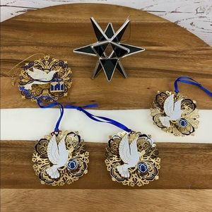 Star of David and Tree of Remembrance Ornaments